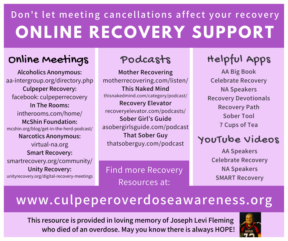 Online Recovery Meetings & Support