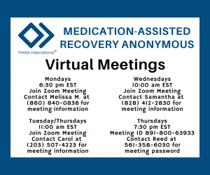 Medication Assisted Recovery Support Meetings