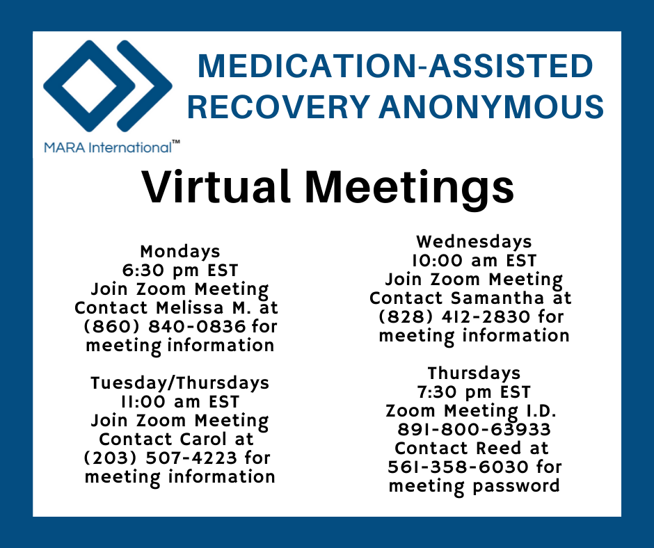 Medication Assisted Recovery (MAT) Meetings